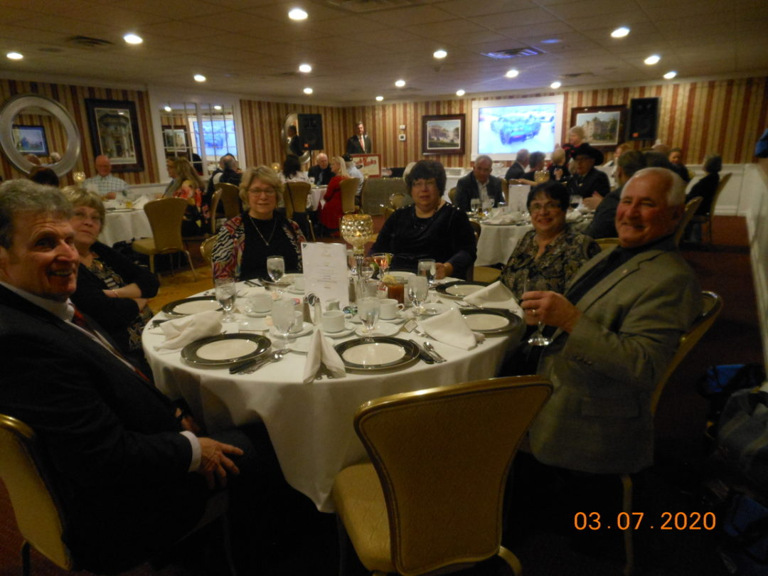 March 2020 Installation Dinner at Russell's